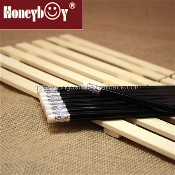 best selling black wood pencil with eraser