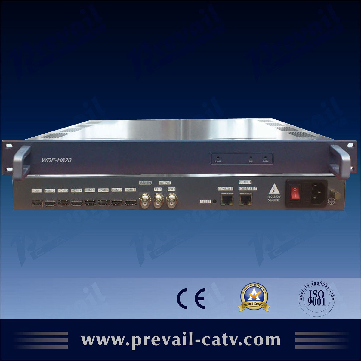analog to ip converter 8 channels Mpeg4 encoder with ip output(WDE-H820)