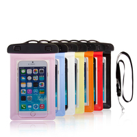high Quality PVC mobile phone waterproof bag for Iphone