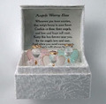 set of 3 mini glass angels in gift box