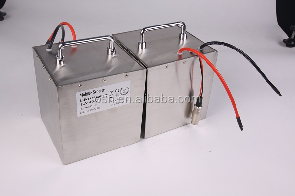 1200W LiFePo4 12V 40AH battery pack for electric motorcycle