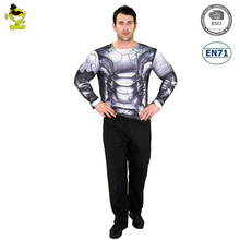 Men's 3D Digital Printing T-Shirt Robot Cosplay Party With Revenue Stamp Fit Cosplay Costume