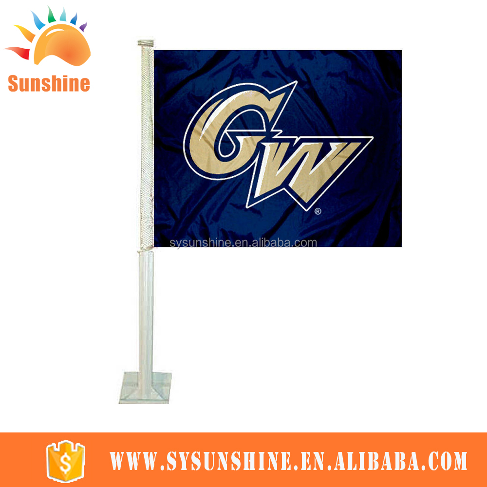 Best profit and promotional window car flag in America polyester car flag car mirror socks