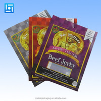 matt finishing beef jerky Bag stand up zip pouch/dried food packaging bags