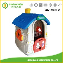 Indoor Playground Cheap Kids Plastic Story Playhouse(QQ14095-2)