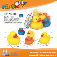 Funny vinyl duck bath toys with whistle