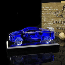 Collective elegant engraving 3d laser Crystal Glass Model Gifts Figurines crystal car model