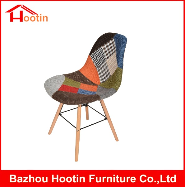 European Good Quality Standard Modern Home Dining Room Furniture Cloth Seat and Back Cheap Wood Chair