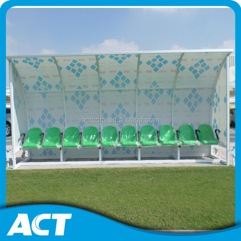 Hot sale luxury portable football dugouts with plastic seat