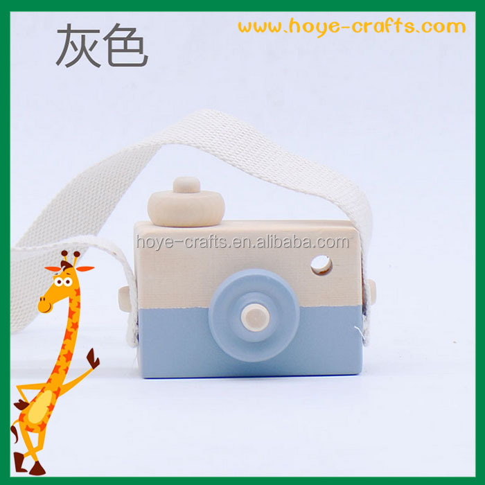 wooden handicrafts camera toy for kids