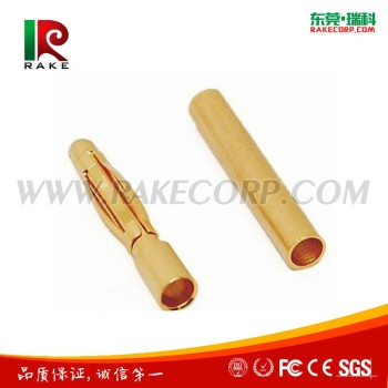 2mm banana plug and socket,24k gold connector banana plug