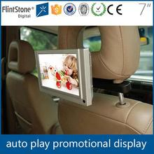 Flintstone 7 inch lcd display for car advertising taxi lcd advertising display screen back seat tv for car taxi ad video player