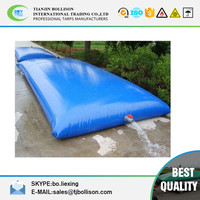 PVC Bladder Inflatable Water Storage Tanks , High Strength Coated Fabric 10500lt