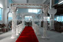 high quality crystal roman column for wedding decoration
