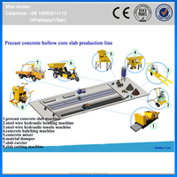 Prestressed Hollow Core Concrete Slab Extruder For Roof And Floor