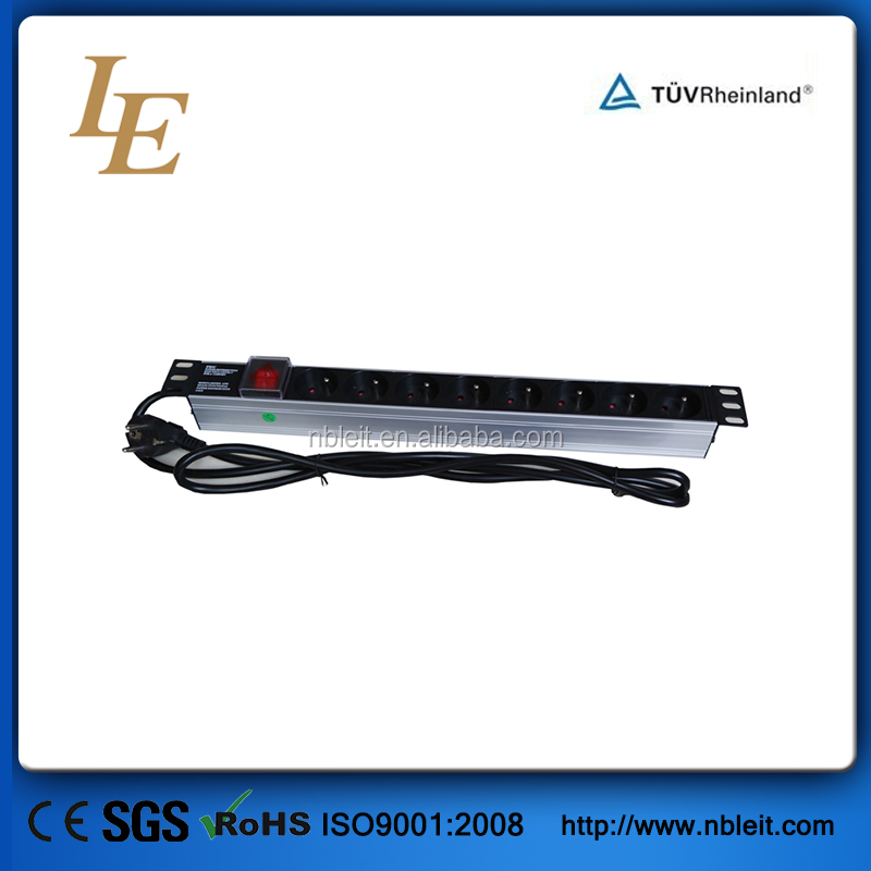 2016 China supplier 19 inch 1U France power distribution unit pdu