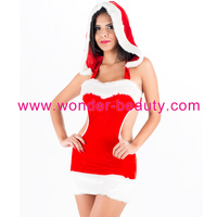 Free shipping Wholesale Price Disfraz Sexy Mrs girls wholesale santa claus dress Costume Sexy Red Fancy Dress