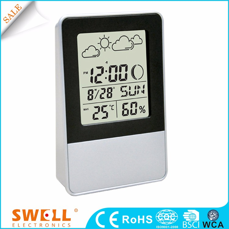Weather Station Snooze Function Globe Clock Factory
