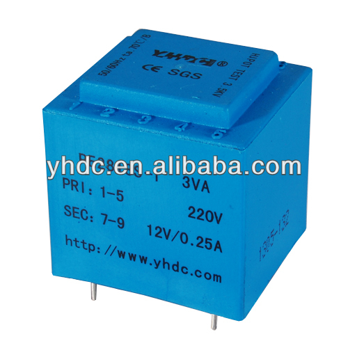 YHDC EI series transformer vacuum encapsulated power transformer