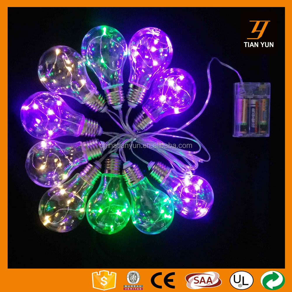 new design copper wire mini led string light with lamps E27 with battery operate for christmas