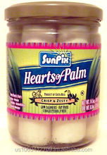 SunPix Brand Hearts of Palm in 14.5 oz Jars