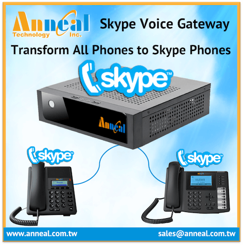 Transform Office Deskphone to Asterisk Skype Phone with Skype Gateway