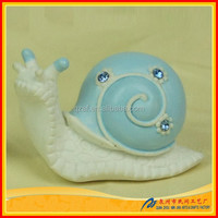 Resin art craft small blue snail gift set