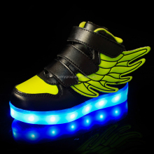 wholesale china kids shoes usb led light flashing lights children lighting shoes