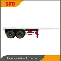 Light duty 20 feet flatbed semi trailer with 4 locks made in China