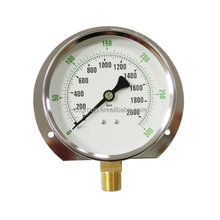 CHROME PLATED CASE WATER PUMP PRESSURE GAUGE