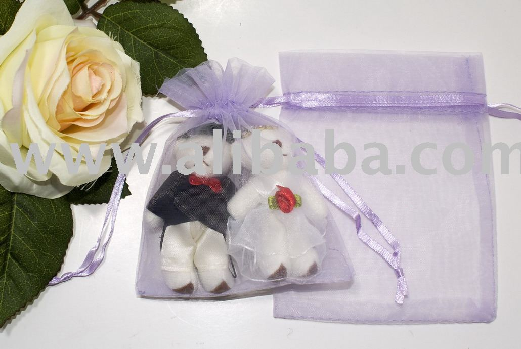 10 x 12cm Gift Bag (Organza) Purple
