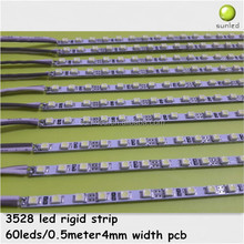 narrow led rigid strip 4mm 5mm width 3528 rigid led strip light
