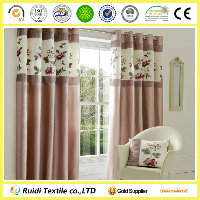 100% Polyester High quality european style window curtains