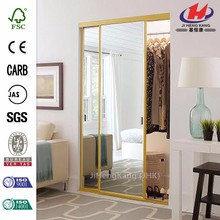 JHK-F01 Actuator Weather Decorative Glass Inserts Frameless Interior Door