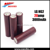 LG HG2 18650 3000mAh 20A High Drain imr18650 3000mah Rechargeable Lion Battery