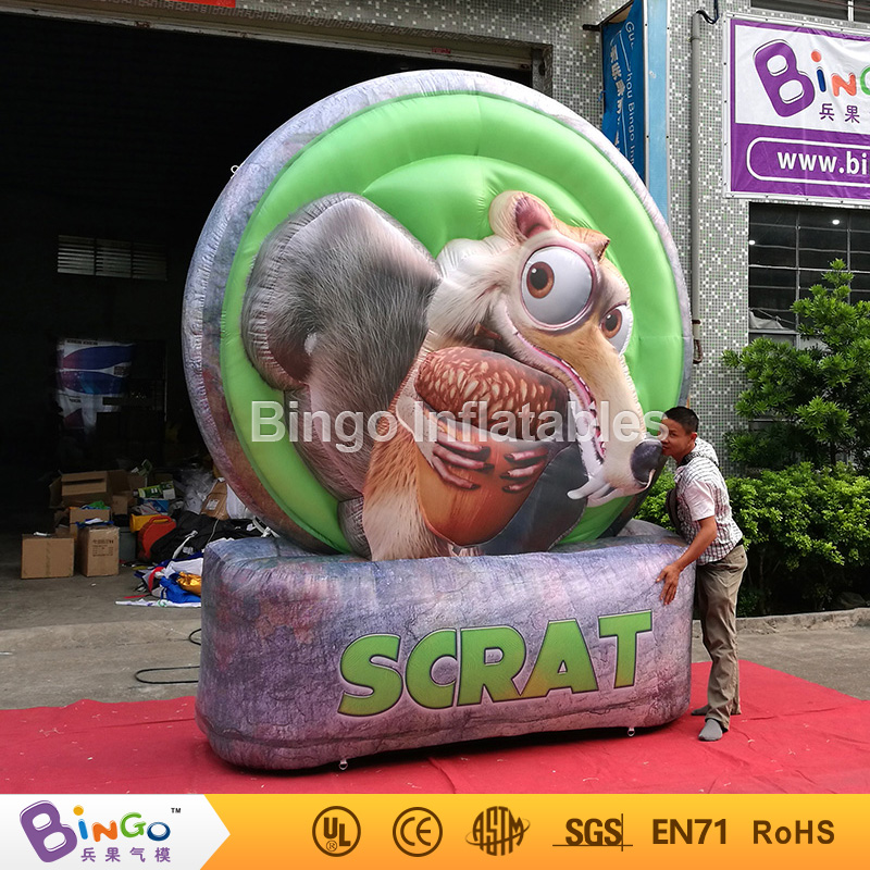 Cute ICE AGE Theme Party inflatable squirrel cartoon model