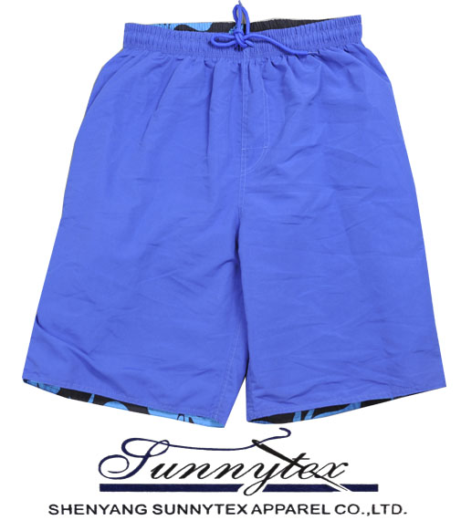 Mens beach short trousers with side pockets