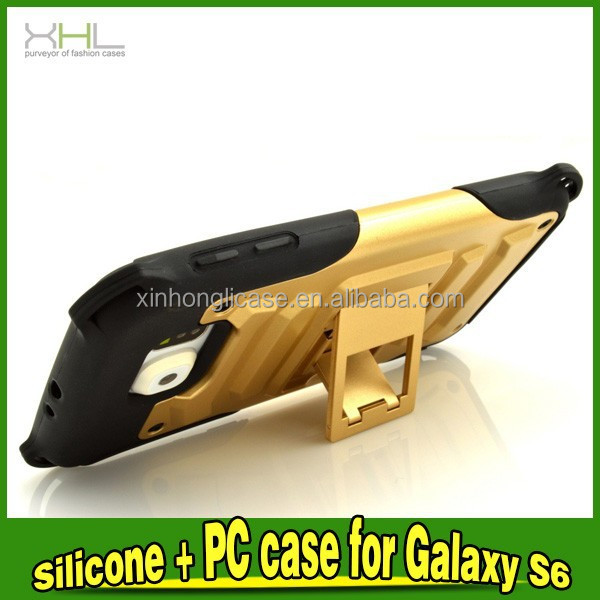 hybrid case with stand for samsung galaxy s6 edge, for samsung s6 edge hybrid case