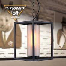 Factory direct sale custom iron + artificial marble hanging chain light industrial loft vintage pendent lamp