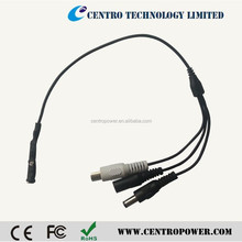 CCTV Audio Cable with amplifier and microphone, DC Jack to Camera.