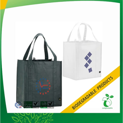 pictures printing Nonwoven shopper tote bags from 100% Plant Starch