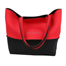2016 New Design neoprene Lady bag customize Beach Bag/shopping tote bag