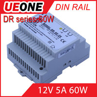 Hot sale 60w 12v 5a Din Rail switching power supply Of DR-60-12