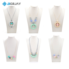 fashion jewelry food grade silicone beaded necklace FDA certified