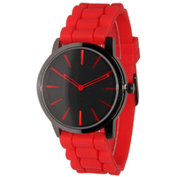Classical design watches for unisex colors silicone rubber band watch