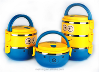 201 portable children favourite cartoon character lunch box with lock