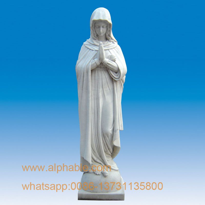 Marble statue of mother Mary