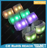 15 LED colors adjustable band led light up bracelet or wristband