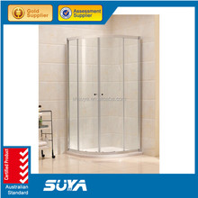 2015 latest design glass shower door aluminum frame shower room