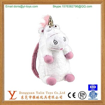 hot sale plush stuffed animal wholesale kids backpack whit moose CE certificated and EN 71